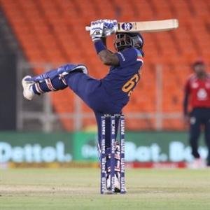 अहमदाबाद टी20 : भारत ने इंग्लैंड को दिया 186 रन का लक्ष्य