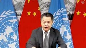 चीनी प्रतिनिधि ने संबंधित देशों से अवैध सैन्य हस्तक्षेप को तुरंत रोकने का आग्रह किया